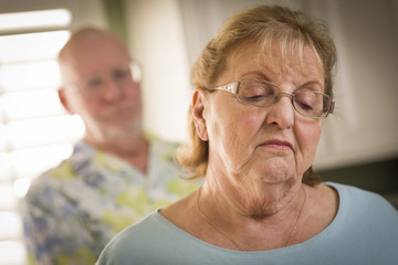 Senior Adult Couple in Dispute or Consoling