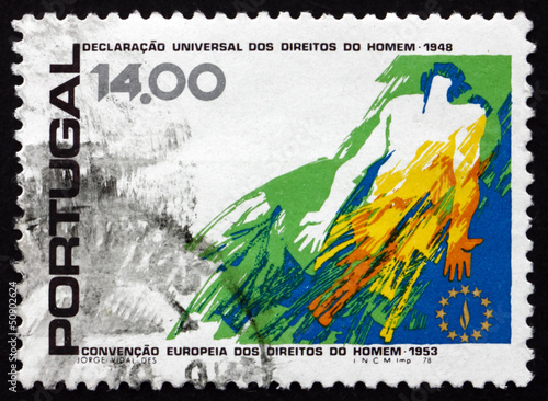 Postage stamp Portugal 1978 Human Figure and Flame Emblem