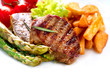 Grilled Beef Steak Meat With F...