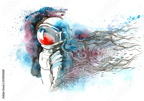 Leinwandbild Motiv astronaut