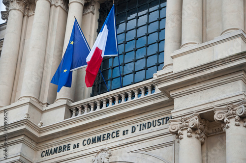 Leinwanddruck Bild Chambre de commerce et d'industrie à Paris