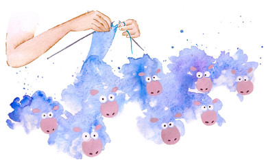 kniting sheeps