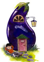 eggplant house