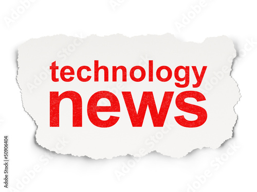 News concept: Technology News on Paper background