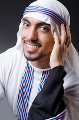 Arab businessman isolated on the white