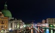 Grand Canal in Venice at nigh with the San Simeon Piccolo church