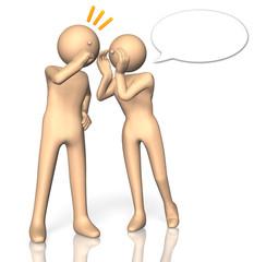 Two people to talk secret