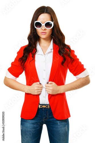 girl in fashion stylish sunglasses