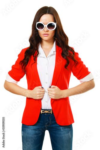 girl in fashion stylish sunglasses