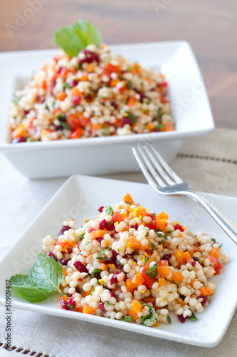 Couscous Salad-vertical-fork