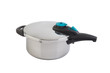 High pressure aluminum cooking pot with safety cover.