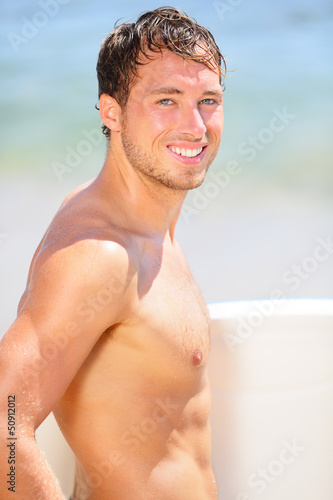 Surfer beach man portrait