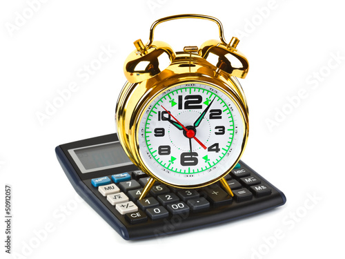 Calculator and clock