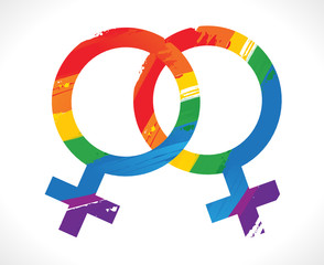 couple de lesbiennes - mariage pour tous
