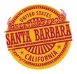 Grunge stamp with text Greetings from Santa Barbara, vector