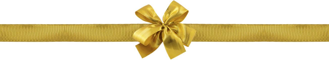 ruban et rosette dorés