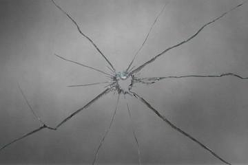 broken glass illustration on gray background