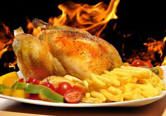 Pollo a la brasa.