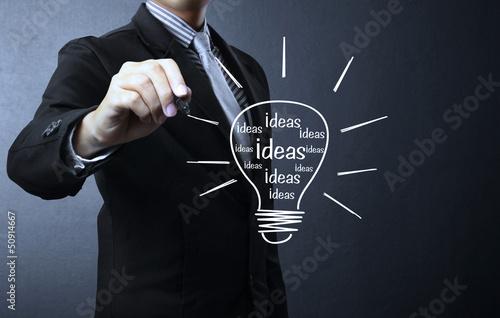 drawing light bulb