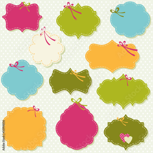 spring colors labels set