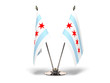 Miniature Flag of Chicago