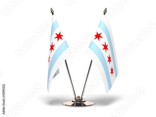 Miniature Flag of Chicago