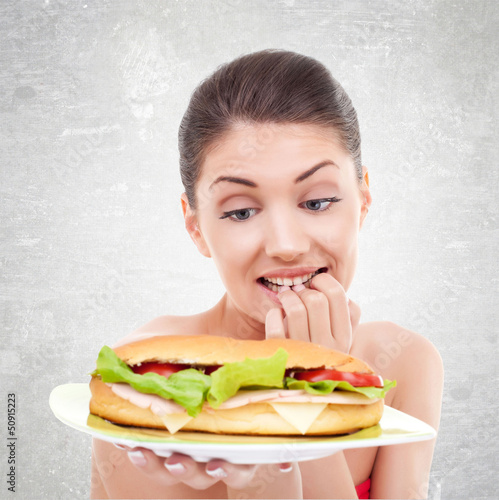 to eat or not to eat a big sandwitch