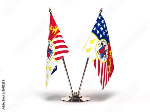 Miniature Flag of Detroit Michigan