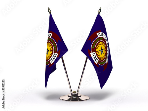 Miniature Flag of El Paso Texas
