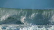 Oceean big wave slow motion