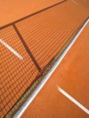 Tennisplatz mit Linie und Netz Schatten 73