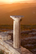 Sunset On Column Of Ancient Byllis, Albania