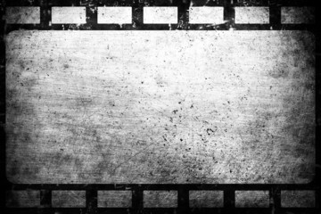 Old grunge film frame vintage background