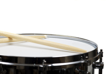 Snare drum with a pair sticks