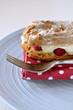 Choux pastry cream eclair slice