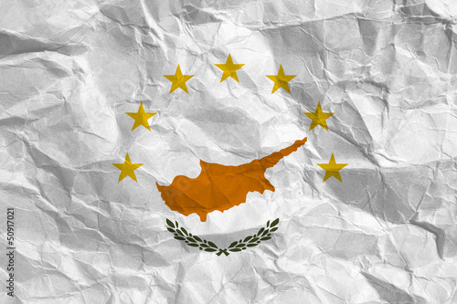 Flag of Cyprus with european union stars