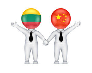 Lithuanian-Chinese cooperation concept.