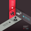 Modern cube origami style options banner. Vector illustration.