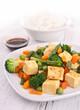 fried tofu and vegeatbles