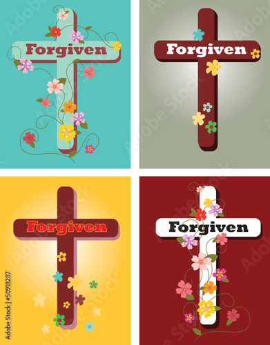 Floral set of crosses, Forgiven