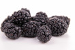 isolated blackberries on white background