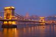 Budapest landmarks at night, Hungary