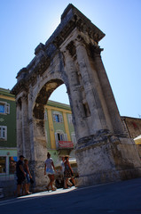 Arch of triumphe in Pula