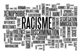 nuage de tagy racisme diskriminace xénophobie intolerance