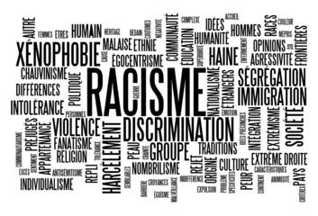 """Nuage de Tags """"RACISME"""" (discrimination xénophobie intolérance)"""