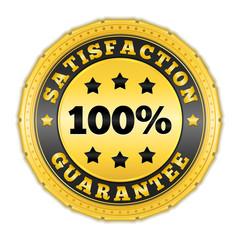Satisfaction Guarantee Golden Badge