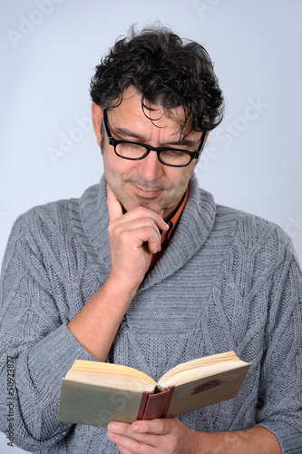 man is reading