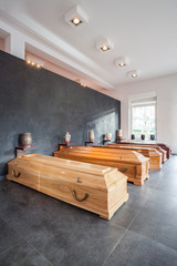 Coffins and urns
