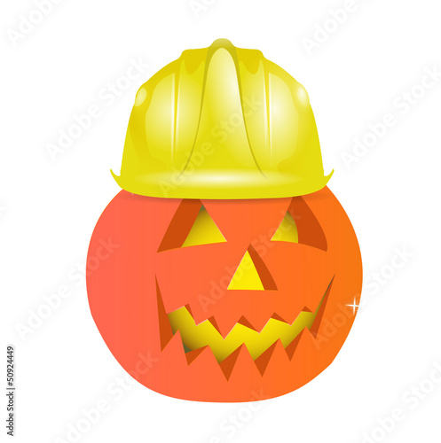 halloween character using helmet