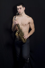 Men with saxophone